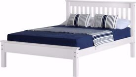 NEW white wooden 4ft6 double bed £159 available today