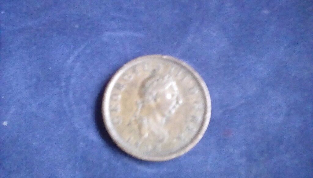 1806 british half penny good condition