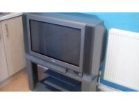 Toshiba television on matching stand