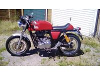 2015 Royal Enfield Continental GT in Red