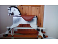 Wooden Rocking Horse by Patterson Edwards Leeway Child 2-5 years Vintage 50'-60's Christmas?