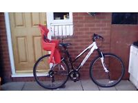 Carrera crossfire ladies bike with child seat great condition