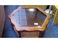 Hexagonal Coffee Table #29529 £25