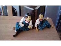Laurel and Hardy book ends