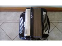 Hohner 3 row button accordian
