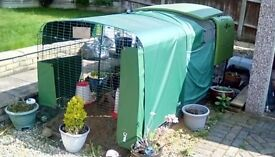 Omlet Eglu cube, chicken coop 2mt run and accessories just add chickens