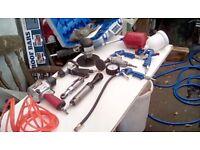 Draper 100 litre air compressor plus air tools job lot