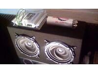 Sub/amp/power caps/sony stereo
