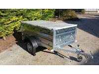 CAR TRAILER SINGLE AXLE TRAILER CAR CAMPING BOX TRAILER 6.8ft x 3.8ft - 750 kg