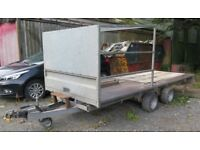 Indespension Twin Axle 4.50m braked Flatbed Trailer