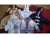 5 items ...2 coates, 2 jackets and 1 cardigan from 3 to 12 months. From pet and smoke free home.