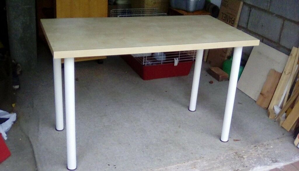 Ikea vika amon table white oak colour in st neots