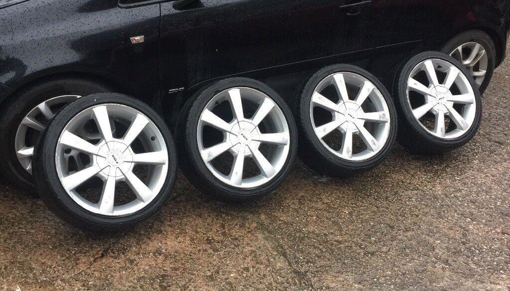 """17"""" 5x100/108 pcd Fox alloys wheels ford mk4 golf vw seat Leon Ibiza"""