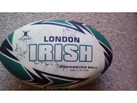 Fantastic Signed London Irish 2012 Rugby Ball with Certificate