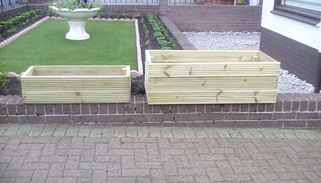 PLANTERSFOR PLANTS, SHRUBS, ETC TREATED TIMBERin Gourock, InverclydeGumtree - PLANTERS , FOR YOUR GARDEN , DECKING, ETC, TREATED TIMBER , SMALL £20 LARGE £35 , CAN DELIVER LOCAL ONLY, CAN MAKE TO ANY SIZE