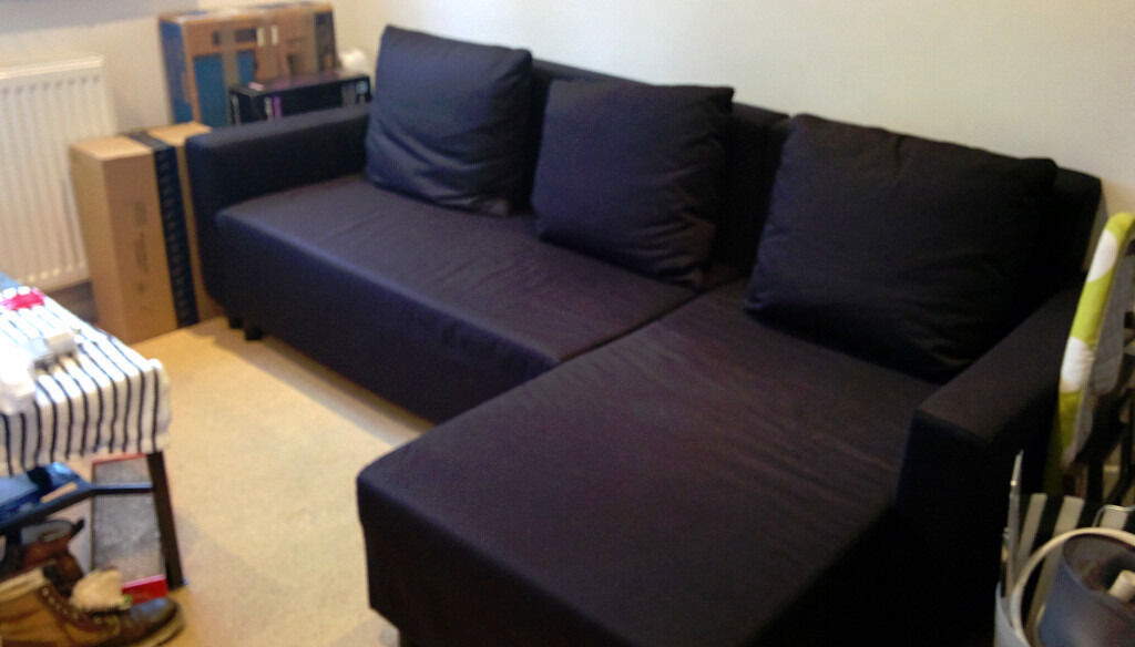 Ikea lugnvik sofa bed with chaise longue in guildford for Chaise longue sofa bed ikea