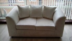 Crushed velvet champayne 3 seater and 2 sofas