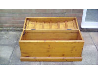 Solid Pine Toy Treasure Chest for your little Jack Sparrow Pirate
