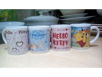4 Children's Disney Mugs