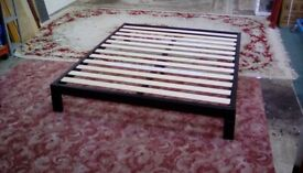 King-Size Metal Platform Bed Frame (#39983) £75 (flat packed as new)