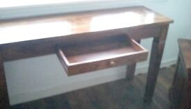 Living room set console table, storage table, 3 side cabinets.