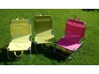 3 John Lewis Beach or Camping Chairs