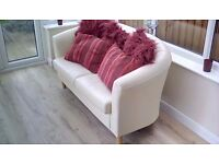 3 piece leather suite, two seater settee and two arm chairs