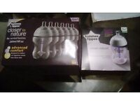 Brand new unopened colic comfort bottles (tommee tippee)