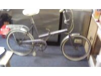 Raleigh stowaway folding bicycle old but in good condition