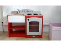 Childrens wooden kitchen and accessories
