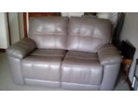 2 reclining leather sofas