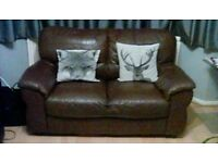 Leather 2 Seater sofa mid brown