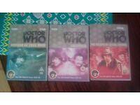 3 Doctor Who DVDs, Tom Baker