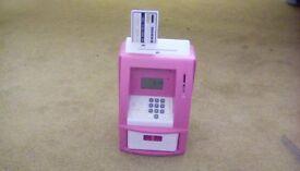 Kids cash machine money box