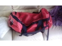 North Face Duffle Bag, red, large 95 litres, very good condition