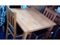 Dining table and 2 chairs #31848 £69