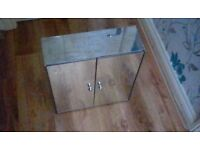 HABITAT CHROME BATHROOM 2 DOOR MIRRORED CABINET BARGAIN £15