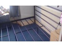 Double bed frame black for sale