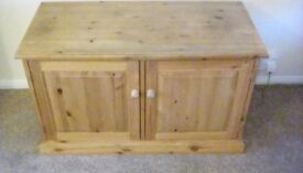 Specially made pine TV cabinet