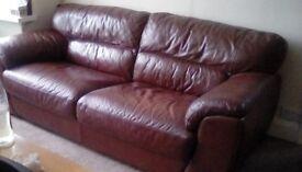 Italian leather sofa 3 seater