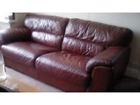 Italian leather sofa 3 seater
