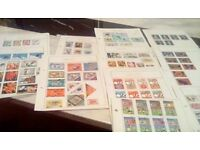 Stamps from 1940-1970 from malaysia-,mongoli-6,fujeira-russia-yeman-grenana-scotland-barbados