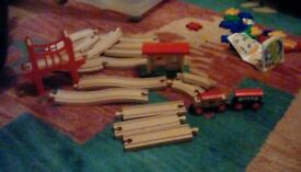 ELC wooden train set