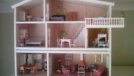 Vintage fully furnished Lundby dolls house