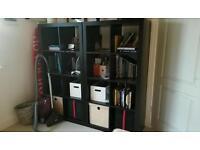 2x Ikea Kallax / Expedit bookcase shelving units: black