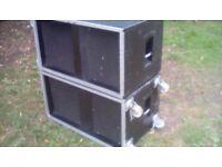 W Bass bins