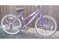 Ladies Dawes Hybrid Bike ~ Purple ~ Good condition ~ Extras