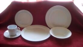 """DINNER SERVICE BY BARRATTS OF STAFFORDSHIRE """"ALPINE BLUE"""""""