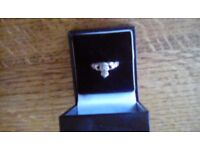 Clannad friendship ring with marcasite silver stamped