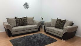 Brand New Roma Cord 3 + 2 Seater Sofas / Clearance Sale / Other Colours Available / Bargain!!